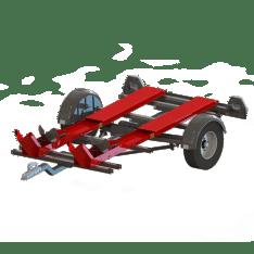 Remolque 2 motos plegable LT Oziconcept (Hasta 250 Kg)