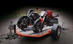 Remolque de moto/quad abatible y plegable DUO