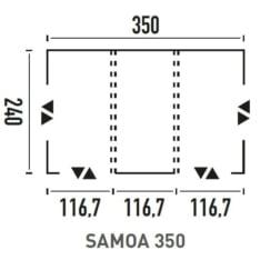 Avance Hinchable Samoa 3.50 metros