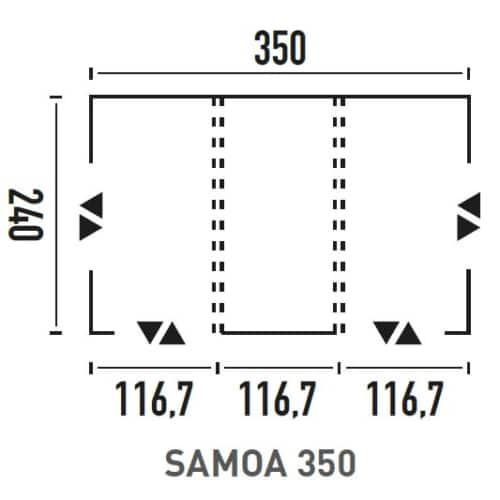 Avance hinchable samoa 350 9