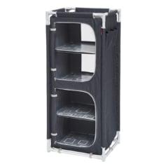 Mueble de almacenaje plegable gris negro