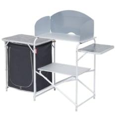 Mueble Para cocinar de camping Gris/Negro Plegable con almacén