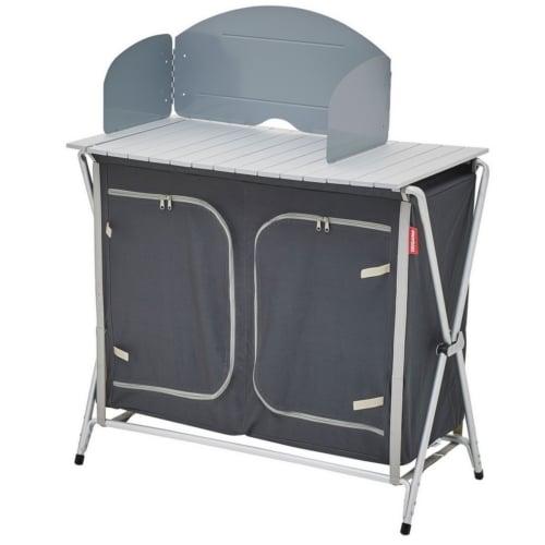 mueble cocina plegable gris negro